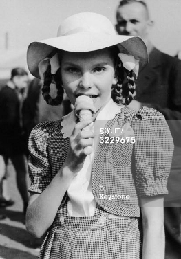 Edda Goering, the daughter of Hermann Goering, eating an ice cream, 1951 (Photo by Keystone/Getty Images)