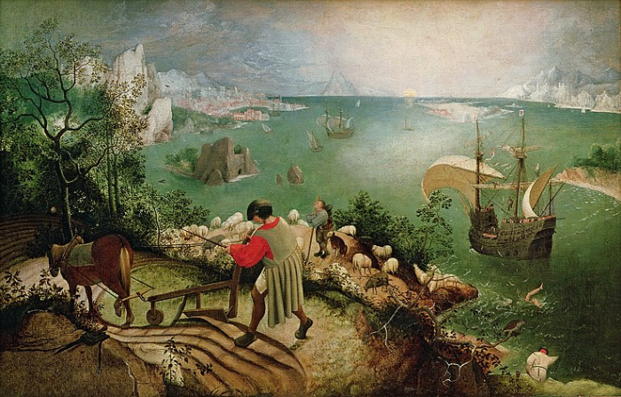 Landscape with the Fall of Icarus (c. 1560), Pieter Bruegel the Elder, Royal Museums of Fine Art, Brussels