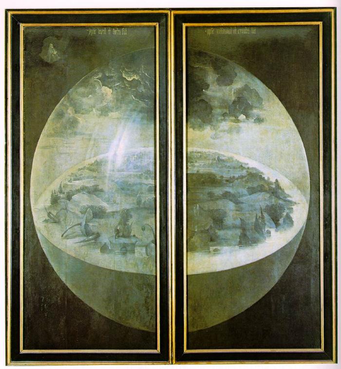The Garden of Earthly Delights—the exterior—shutters (1490 – 1500), Prado