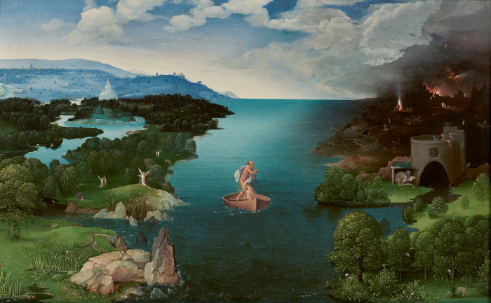 Landscape with Charon Crossing the Styx (c. 1515 – 1524), Joachim Patinir
